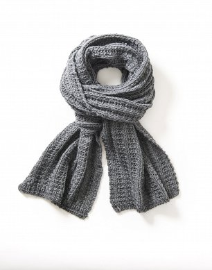 Szalik LEE DAM LUREX SCARF STONE GREY LD0832MD