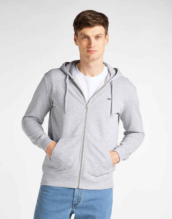 Bluza Męska Lee Basic Zip Throuh Hoo Grey Mele L80KSPMP