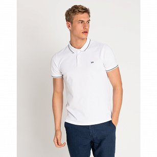 T-SHIRT MĘSKI LEE PIQUE POLO BRIGHT WHITE L61ARLLJ